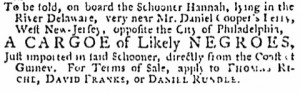 Pennsylvania Gazette; 8-06-1761; David Franks
