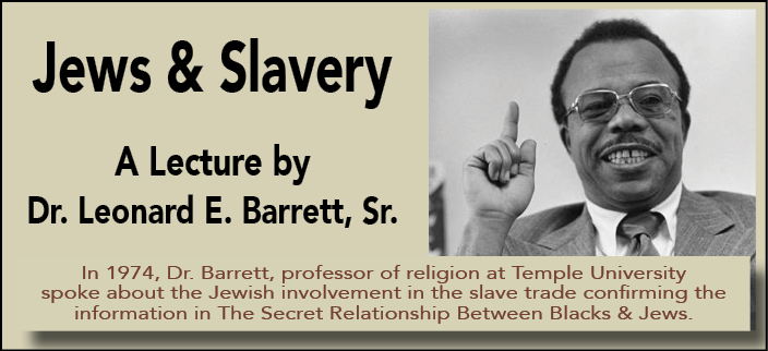LeonardBarrett.Jews&Slavery